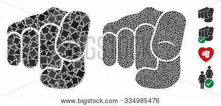 Only You Mosaic Of Tuberous Parts In Different Sizes And Color Tinges, Based On Only You Icon. Vecto