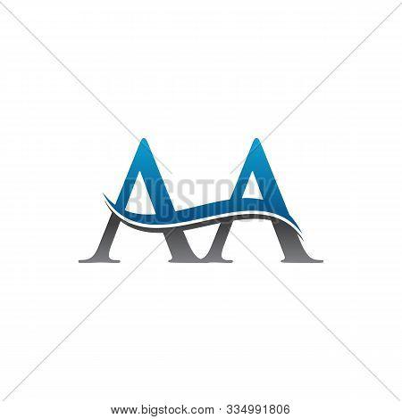 Aa Letter Type Logo Design. Aa Logo Vector Template. Creative Aa Logo. Letter Aa Logo.