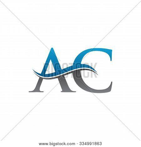Simple Ac Letter Logo. Creative Letter Ac Logo Vector Template. Letter Ac Logo. Ac Font Logo Templat