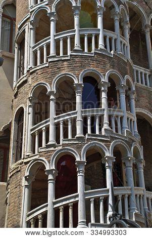 Venice. Italy: The Palazzo Contarini Del Bovolo Is A Small Palazzo In Venice, Italy, Best Known For