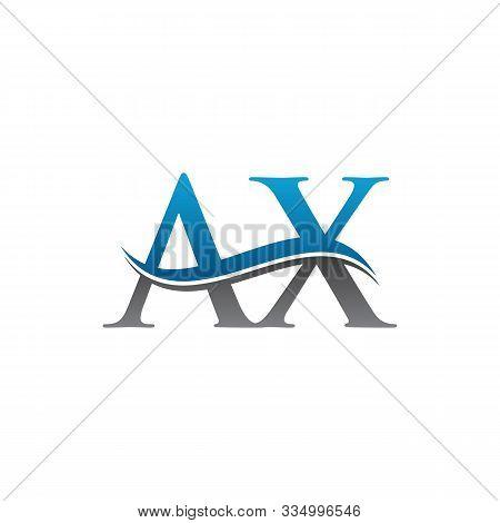 Ax Letter Type Logo Design. Ax Logo Vector Template. Creative Ax Logo. Letter Ax Logo.