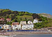Hotels and guest houses on Great Orme Llandudno Wales UK poster