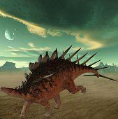3D Render of an Kentrosaurus - 3D Dinosaur poster