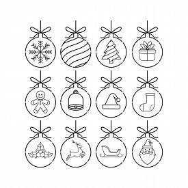 Christmas set. Set of Christmas Balls. Christmas Balls Vector. Christmas Balls Icon. Christmas Balls Background. Christmas Balls Vector illustrations. Christmas Balls logo. Gift Box illustrations. Christmas Balls for party, present, Christmas. Christmas B