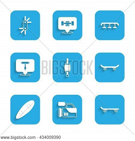 Set Screwdriver, Cinema Camera, Skateboard, Longboard Or Skateboard, T Tool, Stairs With Rail And To