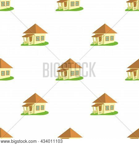 Bungalow Pattern Seamless Background Texture Repeat Wallpaper Geometric Vector