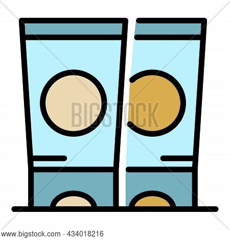 Hand Cream Tubes Icon. Outline Hand Cream Tubes Vector Icon Color Flat Isolated