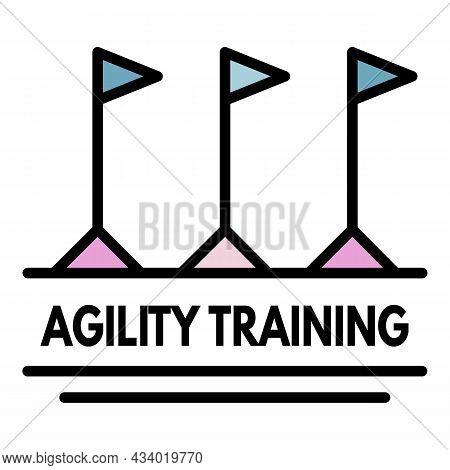Agility Training Logo. Outline Agility Training Vector Logo Color Flat Isolated