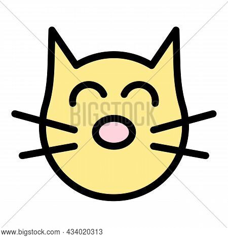 Cured Cat Icon. Outline Cured Cat Vector Icon Color Flat Isolated