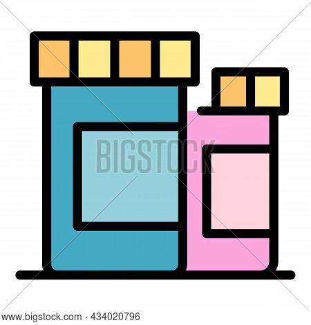 Medicines For Animals Icon. Outline Medicines For Animals Vector Icon Color Flat Isolated
