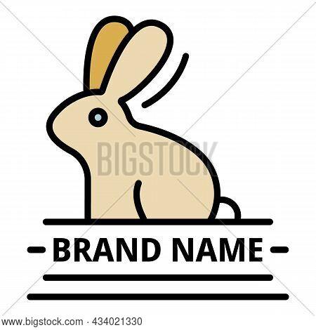 Brand Veterinary Name Logo. Outline Brand Veterinary Name Vector Logo Color Flat Isolated