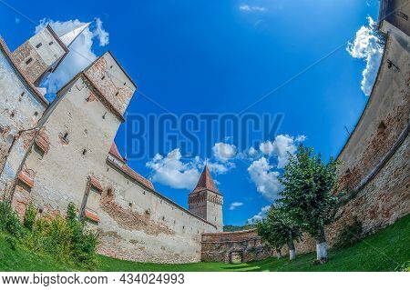 The Wall Of Appliances And The Inner Courtyard Of The Fortified Evangelical Church Built Between 149