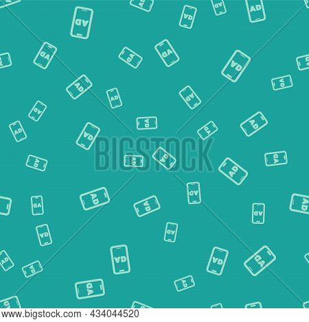 Green Advertising Icon Isolated Seamless Pattern On Green Background. Concept Of Marketing And Promo