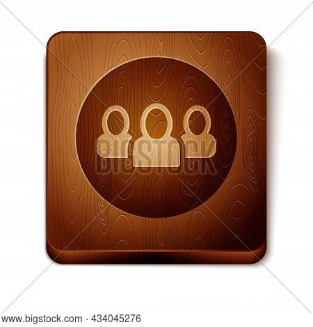Brown Project Team Base Icon Isolated On White Background. Business Analysis And Planning, Consultin