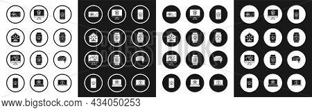 Set Mobile Phone With Smart Home, Smart Watch House And Alarm, Wi-fi, Light Bulb, Computer Monitor,