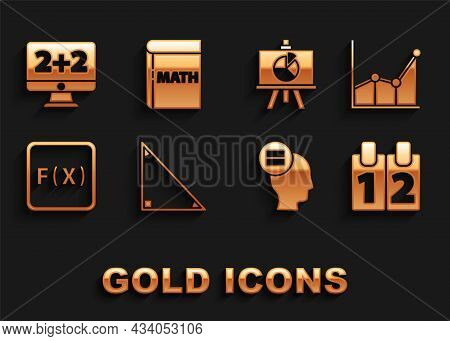 Set Triangle Math, Graph, Schedule, Chart, Diagram, Calendar, Calculation, Function Mathematical Sym