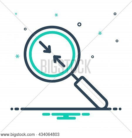 Mix Icon For Closer Near Nigh Magnifier Analyze Evaluation Enlarge Equipment Inspection Investigatio