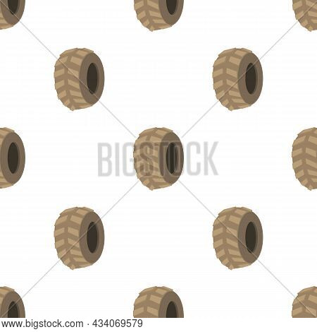 Big Tire Pattern Seamless Background Texture Repeat Wallpaper Geometric Vector