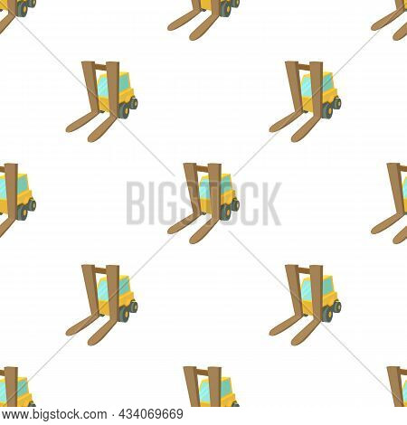 Forklift Pattern Seamless Background Texture Repeat Wallpaper Geometric Vector