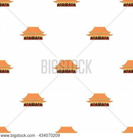 Pagoda Temple Pattern Seamless Background Texture Repeat Wallpaper Geometric Vector