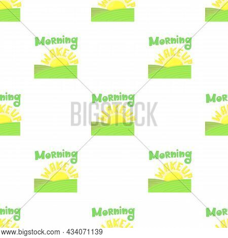 Morning Wakeup Pattern Seamless Background Texture Repeat Wallpaper Geometric Vector