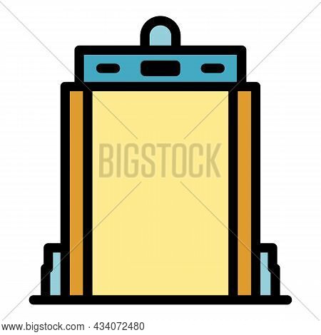 Gate Scanner Icon. Outline Gate Scanner Vector Icon Color Flat Isolated