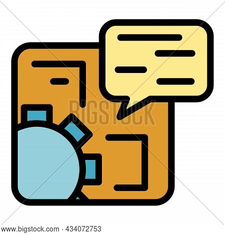 Interaction Icon. Outline Interaction Vector Icon Color Flat Isolated
