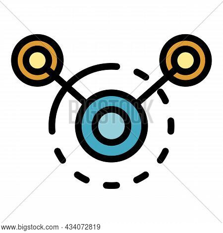 Circle Interaction Icon. Outline Circle Interaction Vector Icon Color Flat Isolated