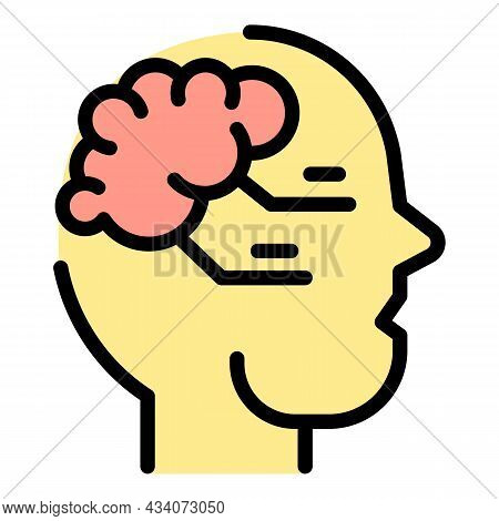 Brainstorming Interaction Icon. Outline Brainstorming Interaction Vector Icon Color Flat Isolated