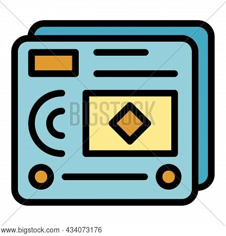 Web Page Interaction Icon. Outline Web Page Interaction Vector Icon Color Flat Isolated