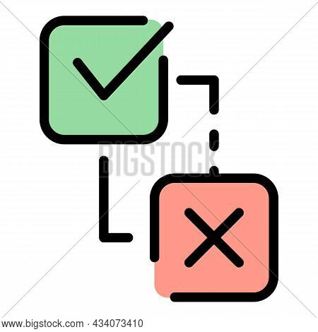 Approved Interaction Icon. Outline Approved Interaction Vector Icon Color Flat Isolated