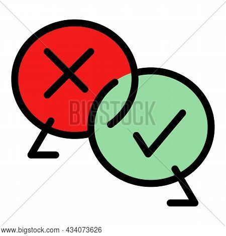 Approved Experience Icon. Outline Approved Experience Vector Icon Color Flat Isolated