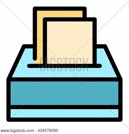 Table Handkerchief Icon. Outline Table Handkerchief Vector Icon Color Flat Isolated