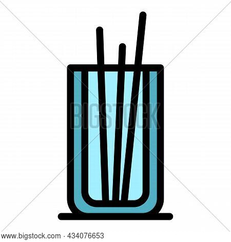 Glass Air Freshener Icon. Outline Glass Air Freshener Vector Icon Color Flat Isolated