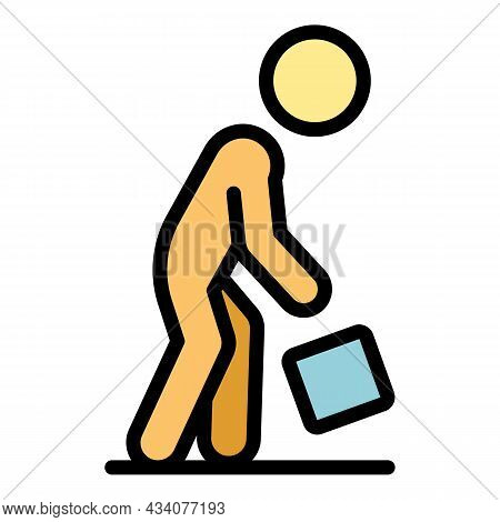 Careless Person Object Icon. Outline Careless Person Object Vector Icon Color Flat Isolated