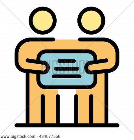 Protest Kids Icon. Outline Protest Kids Vector Icon Color Flat Isolated
