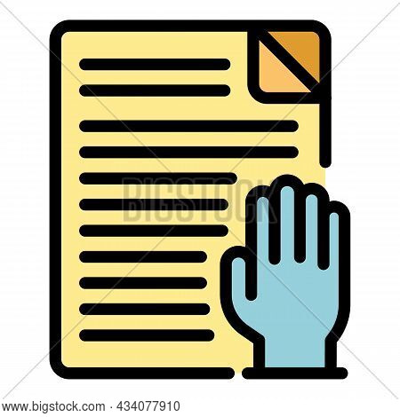 Activism Papers Icon. Outline Activism Papers Vector Icon Color Flat Isolated