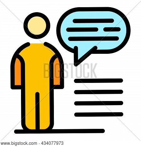 Man Dislike Icon. Outline Man Dislike Vector Icon Color Flat Isolated