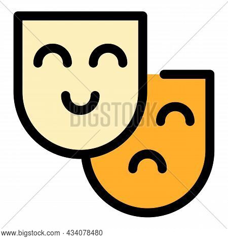 Human Senses Icon. Outline Human Senses Vector Icon Color Flat Isolated