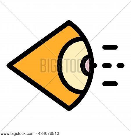 Eye Sense Icon. Outline Eye Sense Vector Icon Color Flat Isolated