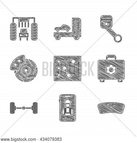 Set Car Settings, Online Car Services, Windshield, Toolbox, Chassis, Brake Disk With Caliper, Engine