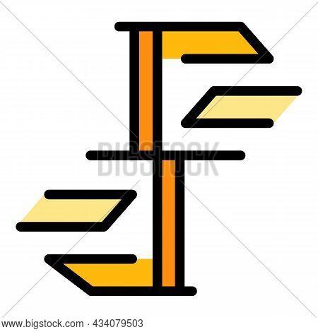 Circular Staircase Icon. Outline Circular Staircase Vector Icon Color Flat Isolated