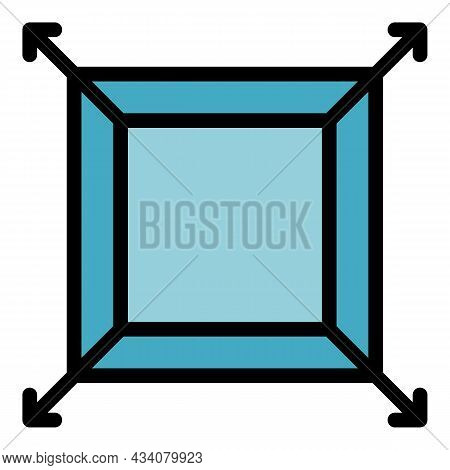 Size Redesign Icon. Outline Size Redesign Vector Icon Color Flat Isolated