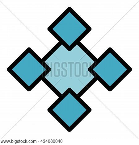 Creative Redesign Icon. Outline Creative Redesign Vector Icon Color Flat Isolated