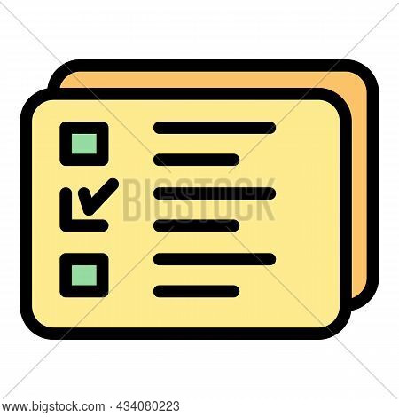 Redesign List Icon. Outline Redesign List Vector Icon Color Flat Isolated