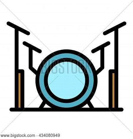 Band Drums Icon. Outline Band Drums Vector Icon Color Flat Isolated