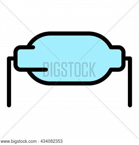 Fixed Resistor Icon. Outline Fixed Resistor Vector Icon Color Flat Isolated
