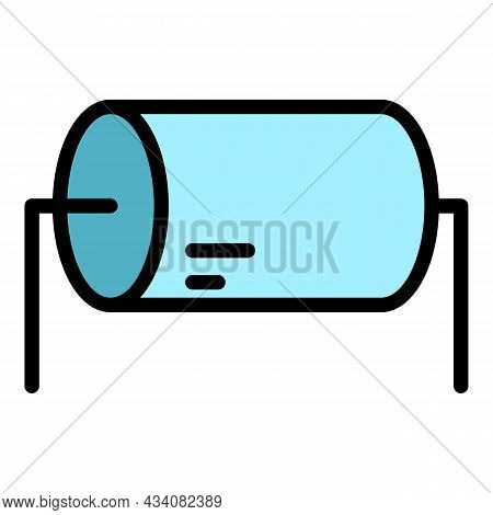 Resistance Resistor Icon. Outline Resistance Resistor Vector Icon Color Flat Isolated