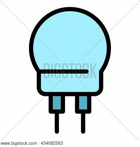 Light Resistor Icon. Outline Light Resistor Vector Icon Color Flat Isolated