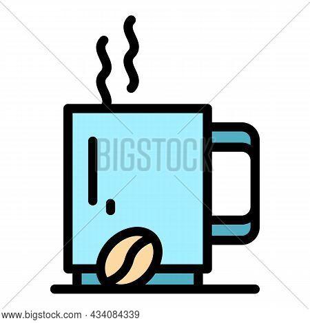 Coffee Mug Icon. Outline Coffee Mug Vector Icon Color Flat Isolated